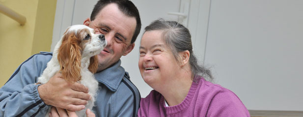 Disability, Dog, Happy Family, Pet